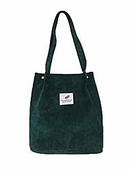 cheap -corduroy totes bag - women's shoulder handbags small shopping bag (dark green)