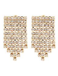 cheap -Women's Drop Earrings Earrings Dangle Earrings Chandelier Fashion Wedding Stylish Rococo Baroque European Fashion Imitation Diamond Earrings Jewelry White / Gold For Wedding Gift Engagement Prom