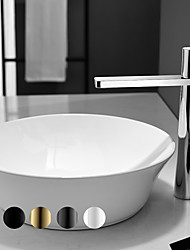 cheap -Bathroom Sink Faucet - High Hot & Cold Water Single Handle Deck Mount Vessel Vanity Sink Mixer Tap Hotel Bathroom Centerest Wash Basin Faucet Chrome/Black/Gold/ Brushed Gun Metal/White