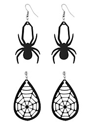 cheap -Women's Drop Earrings Earrings Vintage Style Fashion Statement Classic Vintage Trendy Fashion Earrings Jewelry Black For Halloween Vacation Street Festival 2 Pairs
