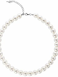 cheap -round imitation pearl necklace wedding pearl necklace for brides white (diameter of pearl 12mm)