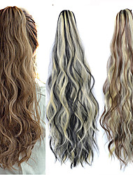 cheap -Clip In / On Hair Piece Party / Easy dressing / Color Gradient Synthetic Hair Hair Piece Hair Extension Curly 24 inch Date / Street / Birthday Party
