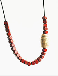 cheap -Choker Necklace Beaded Necklace Chains Women's Resin Unique Design Romantic Trendy Boho Cute Cool Coffee 90 cm Necklace Jewelry for Street Gift Daily Promise Festival / Long Necklace / Charm Necklace
