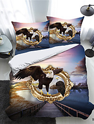cheap -Animal Series 3D Print 3-Piece Duvet Cover Set Hotel Bedding Sets Comforter Cover with Soft Lightweight Microfiber(Include 1 Duvet Cover and 1or 2 Pillowcases)