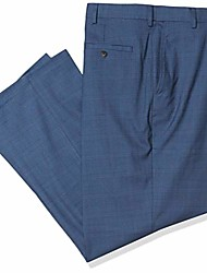 cheap -men's j.m big and tall sharkskin plaid classic dress pant, blue, 50 x 34