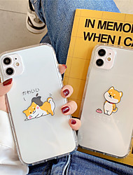 cheap -Case For Apple scene map iPhone 11 11 Pro 11 Pro Max cartoon dog pattern high permeability TPU material air pressure drop resistant mobile phone case