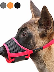 رخيصةأون -كمامة للكلاب من النايلون لينة كمامة مضادة للعض والنباح آمنة ، شبكة تنفس الحيوانات الأليفة غطاء الفم للكلاب الصغيرة والمتوسطة والكبيرة