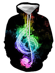 cheap -Men's Pullover Hoodie Sweatshirt Graphic Daily Going out 3D Print Basic Casual Hoodies Sweatshirts  Black
