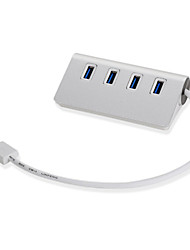 cheap -Aluminum Alloy Usb 3.0 Hub 4 Port Hub Usb3.0 1 / 4 Splitter