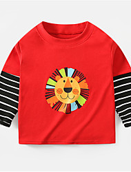 cheap -Kids Girls' Basic Tiger Striped Graphic Animal Print Long Sleeve Tee Red