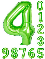cheap -balloon 0-9(zero-nine) green numbers birthday party 40 inch mylar decorations of arabic number 4