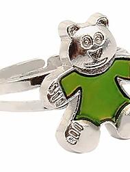 cheap -adjustable color changing mood ring inspirational mystique marble (bear, adjustable)