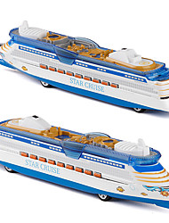 cheap -Cruise Ship Models Ship Toys Cartoon Music & Light Pull Back Vehicles Metal Kid's Adults All Toy Gift
