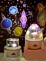 cheap -Dimmable Planet Magic Projector Light Bedroom Decor Star Universe Night Light LED Colorful Rocket Rotary Flashing Projector With Speaker Projector Light