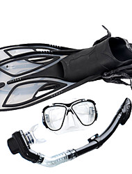 cheap -Snorkeling Set Diving Package - Diving Mask Diving Fins Snorkel - Antifog Antiskid Explosion-Proof Swimming Diving Snorkeling Silicone PVC (Polyvinylchlorid) PP+ABS  For  Adults