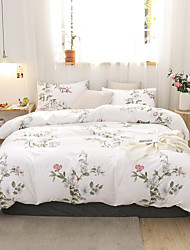cheap -Floral Print 3-Piece Duvet Cover Set Hotel Bedding Sets Comforter Cover with Soft Lightweight Microfiber(Include 1 Duvet Cover and 1or 2 Pillowcases)