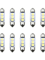 cheap -10pcs LED Integrated Car Light Bulbs SMD 5050 3 LED License Plate Lights For universal All years