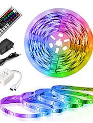 cheap -5M Waterproof LED Light Strips RGB Tiktok Lights 24W 2835 8mm DC12V 44Key IR Controller Kit with Male DC connector Line