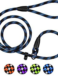 cheap -rope dog leash 6ft mountain climbing training slip show lead braided reflective leashes for small medium large dogs (s/m slip show lead, blue)