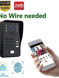 cheap -MOUNTAINONE SY018WF Wireless WIFI Video Doorbell Intercom System 1080P AHD Camera Support Fingerprint