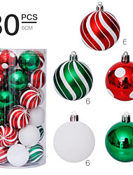 cheap -30 Pcs 6cm Christmas Balls Ornaments for Xmas Tree - Shatterproof Christmas Tree Decorations Hanging