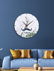 cheap -Mustache Disc Acrylic Mirror Clock Home Decoration Mirror Sticker Living Room Mute Wall Clock Quartz Needle
