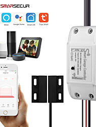 cheap -SMARSECUR WiFi Smart Garage Door Controller Opener Smart Life/Tuya APP Remote Compatible With Alexa Echo Google Home/Siri