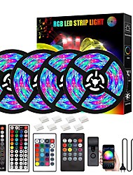 cheap -LED Strip Lights 20M Bluetooth DIY Color changing 2835 RGB 15M 10M 5M LED Light Strip Kit with Remote and Hidden Controller Easy Installation for TV Backlight Room and Bedroom