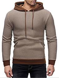 cheap -Men's Hoodie Zip Up Hoodie Solid Colored Hooded Daily Hoodies Sweatshirts  Long Sleeve Slim Black Dark Gray Beige