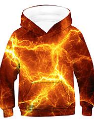 cheap -Kids Boys' Hoodie & Sweatshirt Long Sleeve 3D Orange Children Tops Active Basic Children's Day