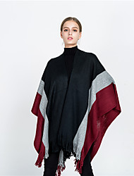 cheap -Women's Active Rectangle Scarf - Color Block Multifunctional