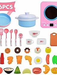 cheap -36pcs kitchen cooking set girls boys children pretend play toy food cookware playset - pink