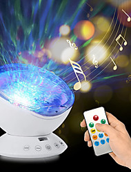 cheap -Ocean Wave Projector Light Led Night Lamp Music Player Remote Control USB Starry Projection Living Bedroom Party Decor Gifts