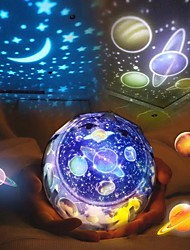 cheap -LED Starry Sky Night Light Planet Star Moon Planet Projector Lamp Cosmos Universe Night Lights Kids Baby Christmas Gift
