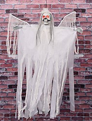 cheap -Halloween Party Toys Halloween Hanging Ghost Skull Skeleton Electric with Scary Sound and Glowing LED Red Eyes Resin Kid's Adults Trick or Treat Halloween Party Favors Supplies