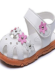 cheap -girls' closed-toe summer solid flower outdoor sport casual sandals(toddler/little kid) white us size 12 m little kid