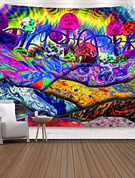 cheap -Wall Tapestry Art Decor Blanket Curtain Picnic Tablecloth Hanging Home Bedroom Living Room Dorm Decoration Polyester Print Colorful Abstract