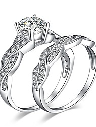cheap -wedding rings engagement rings for women anniversary promise ring bridal sets 925 sterling silver 1.5ct x infinity white cubic zirconia cz ring size 4-11 (12)