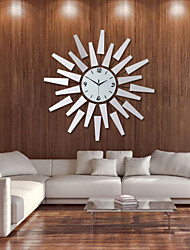 cheap -Modern 29 inch Metal Wall Clock Silver Dial with Arabic ,Non-Ticking Silent Digital Silver Drop Clock Home Decor for Bedroom,Kitchen and Large Areas Space