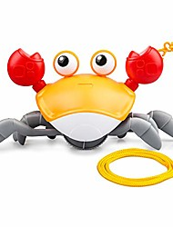 cheap -bath toys for toddler 1-3 years, clockwork walking crab pulling toys birthday festival gifts for 3/4/5 years boys girls, cute cartoon crab toy with a 29.5in cord to pull and play