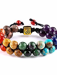 cheap -chakra bead bracelets for women - 8mm 7 chakras anxiety bracelet yoga meditation gemstone beads bracelets(style 2)