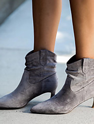 cheap -Women's Boots Stiletto Heel Pointed Toe Booties Ankle Boots Classic Daily PU Solid Colored Khaki Gray / Booties / Ankle Boots / Booties / Ankle Boots