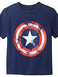 cheap -boys' toddler captain america t-shirt, navy heather, 4t