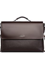 cheap -Men's Bags PU Leather Laptop Bag Briefcase Zipper Office & Career Handbags MessengerBag Black Coffee