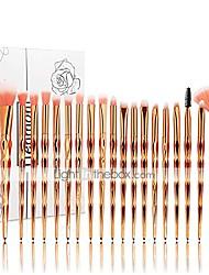 cheap -20pcs unicorn shiny gold diamond makeup brush set with box professional foundation powder cream blush brush kits & #40;gold, unicorn& #41;