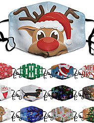 cheap -Washable Digital Printing Men's and Women's Life Christmas Masks Anti-fog Sunscreen and Dust-proof