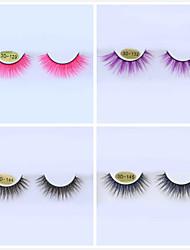 cheap -Colored False Eyelashes 3D Multi-layered Three-dimensional Eyelashes Cosplay Halloween Color False Eyelashes