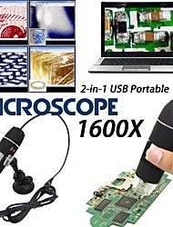 cheap -1600X USB Digital Microscope Camera Endoscope 8LED Magnifier with plastic  Stand