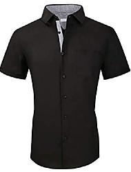 cheap -men's cotton button down short sleeve hawaiian shirt flower xxl