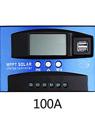 cheap -100A MPPT Solar Charge Controller Dual USB LCD Display Auto Solar Cell Panel Charger Regulator Charge